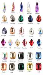 crystals rhinestones wholesale Australia - 50Pcs Pack Hot mixed Glass Crystal Rhinestone Loose Rhinestone 3x10 5.5x8 6x10 6x8mm Quality Flat Back Faceted Loose