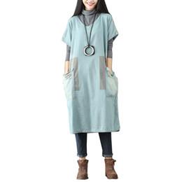 $enCountryForm.capitalKeyWord UK - Spring Summer Cotton Dresses for Women Boho Short Sleeve 2019 Korean Casual Dress Print Plus Size A-line Vestido De Festa Outerwear Sarafan