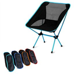 $enCountryForm.capitalKeyWord Australia - Outdoor Folding Chair Aluminum Alloy Camping Fishing Chair Super Light Chair For Beach Outdoor Party Picnic Easy to Carry