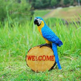 $enCountryForm.capitalKeyWord Australia - Garden Decoration Simulation Parrot Fairy Garden Miniature Sculpture Resin Crafts Outdoor Animal Decoration Wedding prop Gift