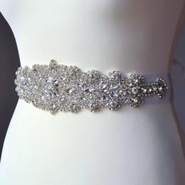 Cintura nuziale di perline di nozze di cristallo perline fatti a mano in rilievo nuovo 2019 cinture di nozze di raso lussuoso caldo telai di nozze di vendita