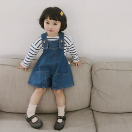 392d2ee4a New Toddler kids Girls Clothes Fashion Baby Girl Overalls Jeans Cotton Denim  Strap Shorts Spring Summer Clothing Loose Solid Jumpsuits
