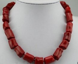 Tibet Coral Beads NZ - FREE SHIPPING + genuine sweet red coral bead jewerly tibet silver necklace