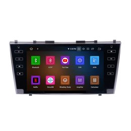 touch screen radio for toyota camry Canada - 9 inch Android 9.0 Auto Radio for Toyota Camry 2007-2011 Car Stereo with GPS Navigation Bluetooth Support Backup Camera