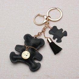 Großhandel Netter Bär Keychain Schlüsselring-Geldbeutel-Handtaschen-Beutel-Anhänger bezaubert Dekoration-Auto-Schlüsselring-Telefon-Zusätze KinderPartei-Geschenke