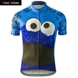 Wholesale cookies clothes online – design 2019 men cycling jersey eat Cookie riding pro racing team wear clothing ropa ciclismo maillot ciclismo interesting The New Cartoon Clothing