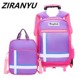 $enCountryForm.capitalKeyWord NZ - 2 6 Wheels Backpack Latest Removable Children School Bags With Wheels Stairs Kids Girl Boy Trolley Schoolbag Luggage Book Bags