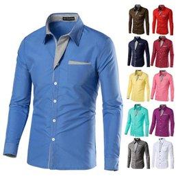 $enCountryForm.capitalKeyWord Australia - 2018 New Fashion Camisa Masculina Long Sleeve Shirt Men Korean Slim Design Formal Casual Male Dress Shirt Size M-4XL