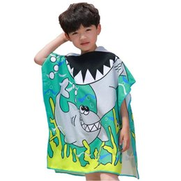 $enCountryForm.capitalKeyWord Australia - Children Cute Cartoon Hooded Cloak Beach Towel Animal Printed Microfiber Baby Boys Girls Kids Swimming Bath Towel 120x60cm