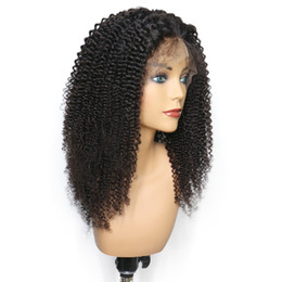 $enCountryForm.capitalKeyWord UK - Malaysian Brazilian Human Hair Wigs Wholesale Kinky Curly Lace Front Wigs With Bleached Knots Natural Hairline Full Lace Wigs