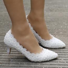 5eaa376d3171a Shop Cheap White Pearl Wedding Shoes UK | Cheap White Pearl Wedding ...