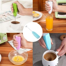 electric handle beater UK - Handheld Electric Egg Beater DIY Milk Drink Coffee Whisk Mixer Frother Foamer Mini Handle Stirrer Practical Kitchen Cooking Tool