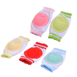 China 1pair Infant Toddler Baby Crawling Knee Elbow Pad Mesh Cushion Safety Protection Crawling Breathable Leg Warmers Knee Cap #471205 cheap infant crawling cushion suppliers