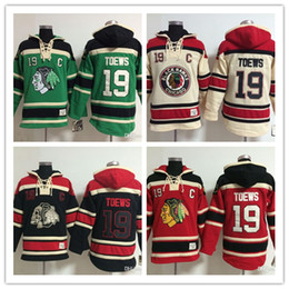 407b83489 Men Chicago Blackhawks Old Time Hockey Jerseys 19 Jonathan Toews Hoodie  Pullover Sweatshirts Winter Jacket Mix Order good qulity