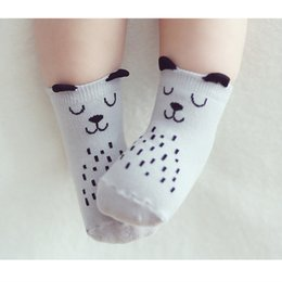 boys toddlers socks Canada - Baby Socks 2016 Toddler Sock Cotton Baby Boy Girl Anti Slip Cute Cartoon Cat Stereo Sock Skid Resistance For Newborns Infantile