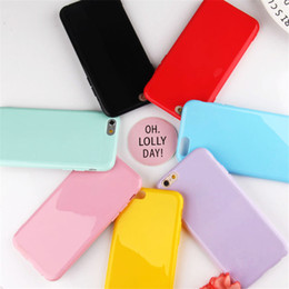 Iphone Cases Soft Silicon Blue Australia - Candy Color Case For iPhone xs max xr iPhone X 7 8 Plus 6 8Plus Ultra Thin Soft Silicon Cell Phone Back Cover