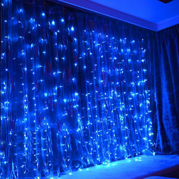 curtain indoor string lights Australia - LIGHTES 300 LED Curtain Lights Blue Outdoor or Indoor Christmas String Fairy Light by Remote Control