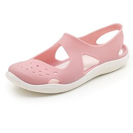 Color Plastic Sandals Australia - Summer Women's Sandals Non-Slip Soft Bottom Jelly Beach Sandals Hole Shoes Plastic Candy Color Women's Shoes