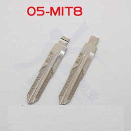 $enCountryForm.capitalKeyWord Australia - 10pcs Engraved Line Key for Mitsubishi MIT8 2 in 1 LiShi scale shearing teeth blank car key NO.5