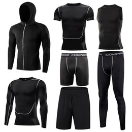 tight tracksuits Australia - Men's sports suit compression tracksuit Fitness Gym clothes for jogging suits running sportwear training exercise workout tight