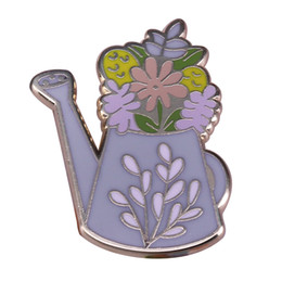 $enCountryForm.capitalKeyWord UK - Floral watering can pin plant gardening brooch leaves art badge beautiful outfit decor