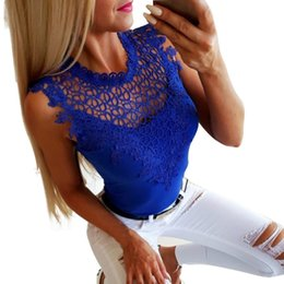 Mesh Fiber Australia - Ladies Mesh Lace Vest Sleeveless Summer Slim Fit Tops HSJ88