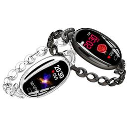 $enCountryForm.capitalKeyWord Australia - E68 Steel Smart Bracelet Blood Oxygen Pressure Heart Rate Monitor IP67 Waterproof Women Smart Band Fitness Tracker Sports for IOS Android