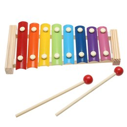 funny frames Australia - Music Instrument Toy Wooden Frame Style Xylophone Children Kids Musical Funny Toys Baby Educational Toys Gifts