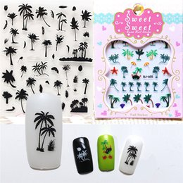 $enCountryForm.capitalKeyWord Australia - Summer Style Coconut Trees Beach Shoes Nail Water Decals Transfer Stickers Black Feather Leaves Nail Art Stickers Tattoo Decal