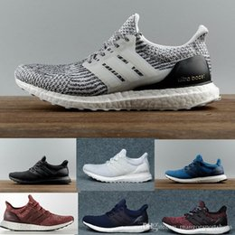 3c319035b02b8 Ultra Boost 3.0 4.0 Triple Black and White Primeknit Oreo CNY Blue Grey Men  Women Running Shoes Ultra Boosts Ultraboost Sport Sneakers