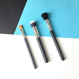 short makeup brushes NZ - M-Series 109 Small Contour 130 Short Dual-Fibre 252 Large Shader Brush Perfect Foundation Eyeshadow Contour Makeup Blending Tool