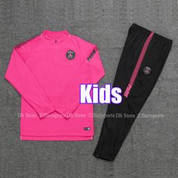 0c77313f2cf Kids 2019 PSG Pink AJ Soccer Training Suits 18 19 Survetement Paris Saint  germain MBAPPE Youth Child 2018 Air Maillot de Tracksuit Kits