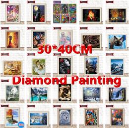 $enCountryForm.capitalKeyWord NZ - Wholesale 30*40CM Full 5D Diamond Painting Kits Embroidery Cross Stitch kits living room mosaic pattern Home Decor