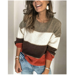 Wholesale loose baggy sweaters for sale - Group buy 2020 Fashion Trend Ladies Women Spring Autumn Newest Long Sleeve Knitted Sweater Loose Pullover Baggy Jumper Casual Tops