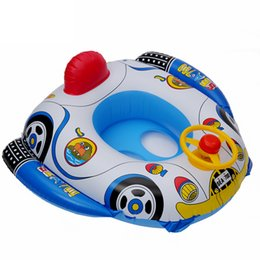 Baby Swimming Ring Seat Australia - Kids Inflatable Eco-friendly PVC Swimming Float Seat Summer Swimming Pool Sport Fun Toys Baby Swim Ring Cute Cartoon Seat Boat