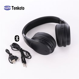 headphone wiring mic Canada - Android IOS PC Bluetooth And Wired Stereo Headset Wireless Mic Active Noise Cancelling Headphone China ANC Bluetooth Earphones