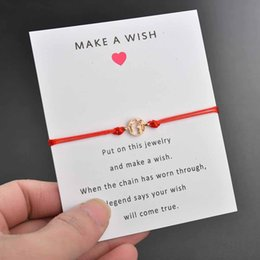 $enCountryForm.capitalKeyWord NZ - Make a Wish bracelets with Card Gold world map charm Red Blue Black White Pink string Rope chains Bangle Fashion Crafts Jewelry