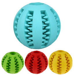 China 5 cm Dog Toy Interactive Rubber Balls Pet Dog Cat Puppy ElasticityTeeth Ball Dog Chew Toys Tooth Cleaning Balls Toys For Dogs sui0185 cheap ball vibrations suppliers