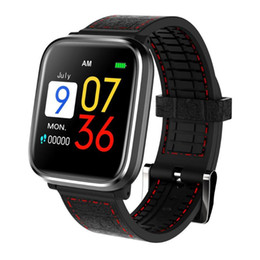 Smart Watch Grey Phone Australia - Q58 Smart Bracelet Watch 1.3 Inch IPS Color Screen IP67 Waterproof Blood Pressure Heart Rate Monitor Fitness Tracker Wristband
