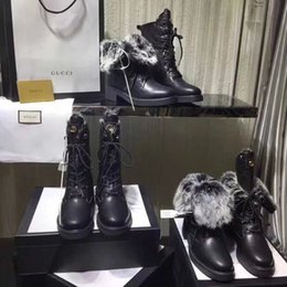 shoe linings Australia - Ting2594 2070 Martin Boots With Rabbit Hair Lining Riding Rain Boot Boots Booties Sneakers Dress Shoes