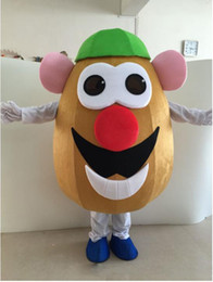 Vegetable adult costumes online shopping - Halloween Mr Potato Mascot Costume Top Quality Adult Size Cartoon vegetables potato Christmas Carnival Party Costumes