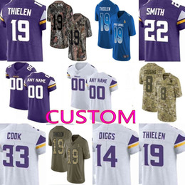custom Men youth women Kirk Cousins Stefon Diggs Adam Thielen Harrison  Smith Camo Salute to Service Vikings Elite Limited Jersey 01 6827fd0e6