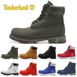 Pvc military online shopping - Cheap Timberland designer luxury boots for mens winter boots top quality womens Military Triple White Black Camo size
