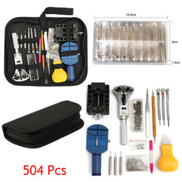 professional watch repair tools kit 2020 - Professional Grade Quality 504PCS Watch Repair Tools Back Case Pin Link Spring Strap Remover Opener Tool Kit Set Free Sh