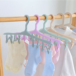 $enCountryForm.capitalKeyWord Australia - 1370 Coat Hanger More Function Plastic Candy Color Clothes Hanger Small Clothing And Other Articles Of Daily Use Socks Drying Frame 8 Mix