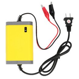 Battery Plugs Australia - portable Portable Charger 12v 2A Fully-automatic Car motorcycle battery charger Adaptor Power Supply US Plug~