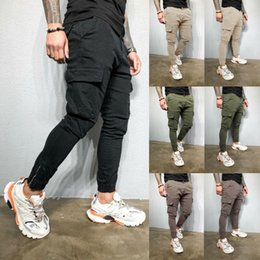 Wholesale mens sweats pants for sale – dress 2020 New Pencil Pant Mens Cotton Slim Fit Tracksuit Sport Gym Skinny Jogging Joggers Sweat Pants Trousers Size M XL