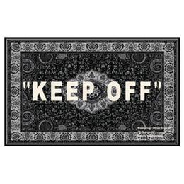 Floor red carpet online shopping - Joint ofof whhite cashew flower keep off carpet European style street carpet floor mats Trendy designer ikk Carpet decorations