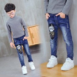 $enCountryForm.capitalKeyWord Australia - Kids Jeans Boys Foot Pants Big Kids Trousers Jeans Denim Casual Pants Teenage Children Outwear For 4-14y Baby Boys Trousers J190517