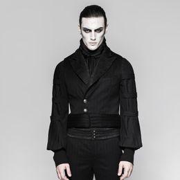$enCountryForm.capitalKeyWord UK - Steampunk Men's Black Waist Coat V neck Metal Button Vintage Male's Fashion Shirts Accessory